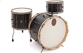 A & F Black Club Drum Kit