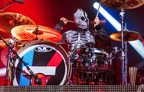 Josh Dun (Twenty One Pilots) playing SJC Custom Drums
